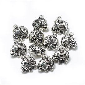 Thai 925 Sterling Silver Charms, with Jump Ring, Elephant