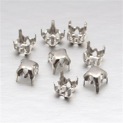Square Brass Rhinestone Claw Settings-1