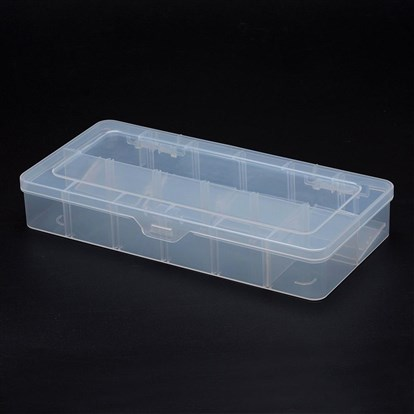 Polypropylene Plastic Bead Storage Containers, Removable, 12 Compartments, Rectangle-1