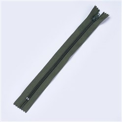 DarkSlateGray Garment Accessories, Nylon Closed-end Zipper, Zip-fastener Components, DarkSlateGray, 23.5~24x2.5cm
