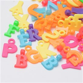 Plastic Pendants, Mixed Letter