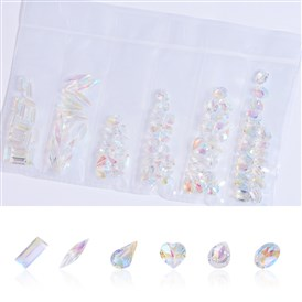 Pointed Back Resin Rhinestone Cabochons, Nail Art Decoration Accessories, Drop & Trapezoid & Heart & Oval & Horse Eye