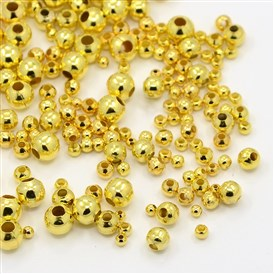 Iron Spacer Beads, Round, 2~5mm, Hole: 1~2mm
