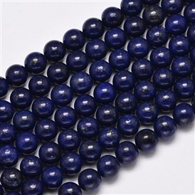 Dyed Natural Lapis Lazuli Round Beads Strands