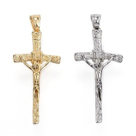 304 Stainless Steel Pendants, Crucifix Cross