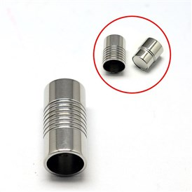 Stainless Steel Magnetic Clasps, 316, Column, 21x10mm, Inner Diameter: 8mm
