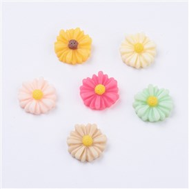 Resin Cabochons, Flower, for Costume & Headwear and Earring Decoration, 13x4mm