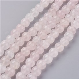 Natural Rose Quartz Beads Strands, Round