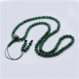 Natural Malachite Buddhist Necklaces