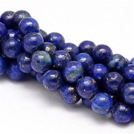 Natural Lapis Lazuli Round Beads Strands, Dyed