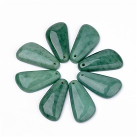 Natural Gemstone Pendants, 41x22x6mm, hole: 2mm