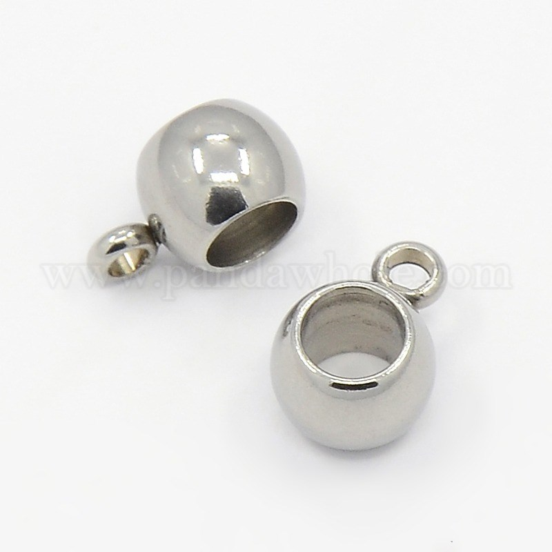 Wholesale 304 Stainless Steel Hanger Links Bail Beads Fit