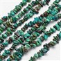Natural Chrysocolla Bead Strands, Chips, 4~12x4~12mm, Hole: 1mm; about 15.74""