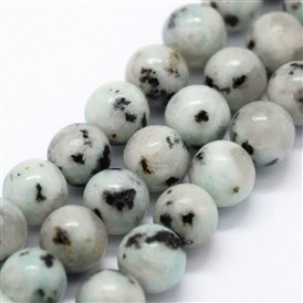 Natural Sesame Jasper Beads Strands, Round