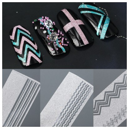 Wholesale Frosted Striping Tape Line Self Adhesive Glitter Nail Art
