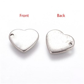 Handmade Gifts Ideas for Valentines Day 304 Stainless Steel Stamping Blank Tag Pendants, Heart, 11x10x0.6mm, Hole: 1mm