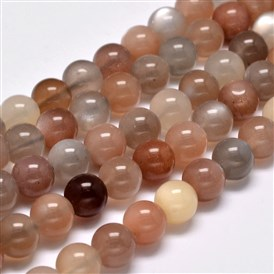 Grade AA Natural Sunstone Round Bead Strands