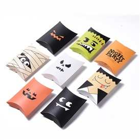 Halloween Pillow Boxes Candy Gift Boxes, Packaging Boxes, for Halloween Thanksgiving Party