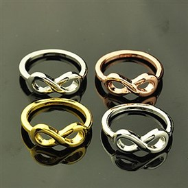Give Your Girlfriend for Valentines Day Alloy Rings, Infinity, 17mm