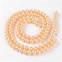 PeachPuff DIY Jewelry Material Packages, Including Tibetan Style Alloy Pendants, Glass Pearl Beads, Stainless Steel Findings, Chain and Tiger Tail, PeachPuff, 8x1mm