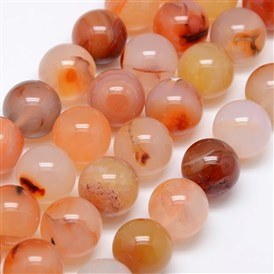 Natural Carnelian Beads Strands, Round