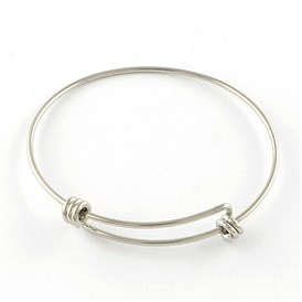 10pcs Expandable 316 Stainless Steel Bangle Bases Adjustable Bangle Blank 2-3//8/""