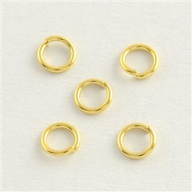 304 Stainless Steel Golden Close but Unsoldered Jump Rings, Stainless Steel Golden Color