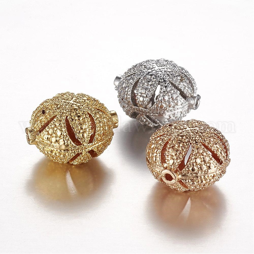 Color Keeping Brass Beads, Real Gold Plated, Flat Round, Lead Free &  Cadmium Free
