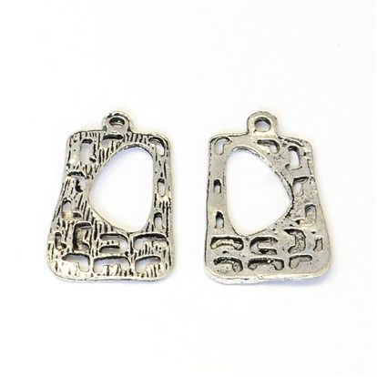 Tibetan Style Zinc Alloy Pendants, Rectangle, Lead Free & Cadmium Free & Nickel Free-1