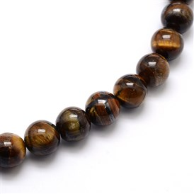 Natural Grade AB Tiger Eye Round Beads Strands