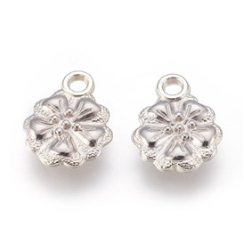CCB Plastic Charms Pendants, Flower, 17x13x3mm, Hole: 2mm