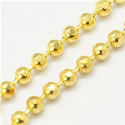 Faceted Brass Ball Chains, Round-1