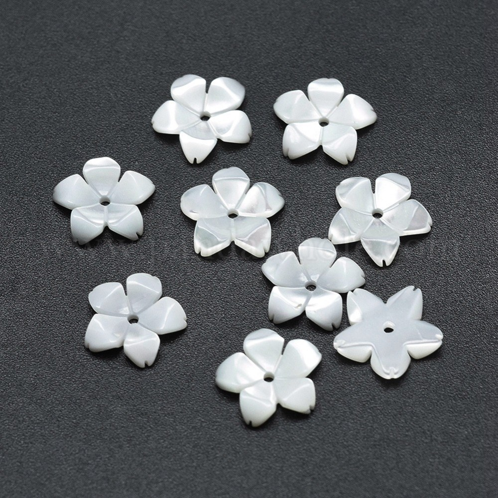 Wholesale 5 Petal Shell Beads Flower In Bulk Pandawhole