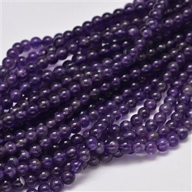 Round Grade A Natural Amethyst Bead Strands