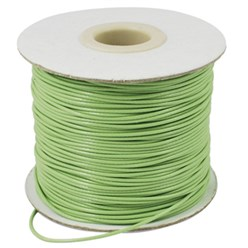 LightGreen Korean Waxed Polyester Cord, Bead Cord, LightGreen, 0.8mm; about 185yards/roll
