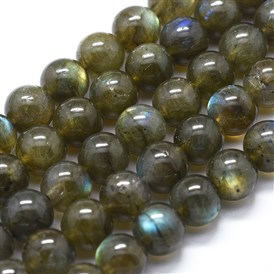 Natural Labradorite Beads Strands, Round