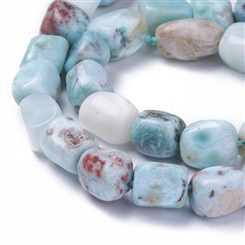 Natural Larimar Beads Strands, Nuggets
