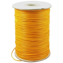 Orange Korean Waxed Polyester Cord, Bead Cord, Orange, 0.8mm; about 185yards/roll