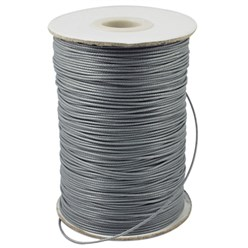 DarkGray Korean Waxed Polyester Cord, Bead Cord, DarkGray, 0.8mm; about 185yards/roll