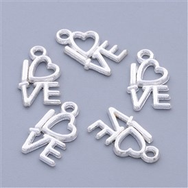 Valentine Gifts Ideas Tibetan Silver Charms, Lead Free and Cadmium Free, 8mm wide, 14.5mm long, hole: 1mm