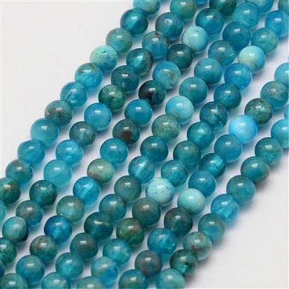 Natural Apatite Beads Strands, Round