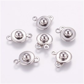 304 Stainless Steel Snap Clasps