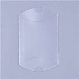 PVC Plastic Frosted Pillow Boxes, Gift Candy Transparent Packing Box