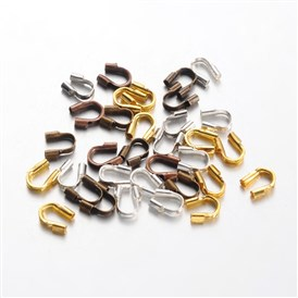 Environmental Rack Plating Brass Wire Guardians, Lead Free & Cadmium Free & Nickel Free, 5x4x1mm, Hole: 0.5mm