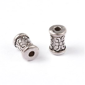 Tibetan Style Alloy Beads, Lead Free & Cadmium Free, about 5mm in diameter, 7mm long, hole: 2mm