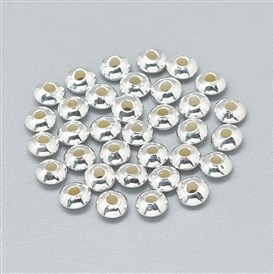925 Sterling Silver Spacer Beads, Rondelle