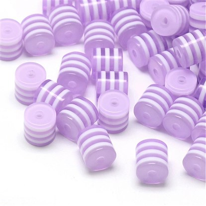Transparent Stripe Resin Beads, Column-1