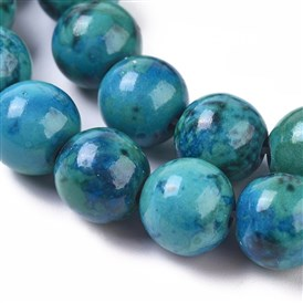 Synthetic Chrysocolla Beads Strands, Dyed, Round