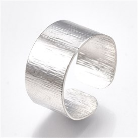 Alloy Cuff Finger Rings, Wide Band Rings