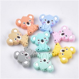 Food Grade Environmental Silicone Beads, Chewing Beads For Teethers, DIY Nursing Necklaces Making, Koala